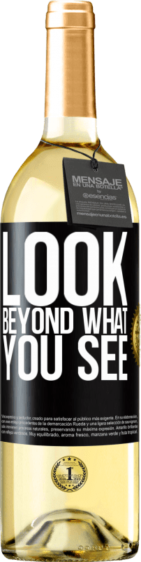 24,95 € Free Shipping | White Wine WHITE Edition Look beyond what you see Black Label. Customizable label Young wine Harvest 2020 Verdejo