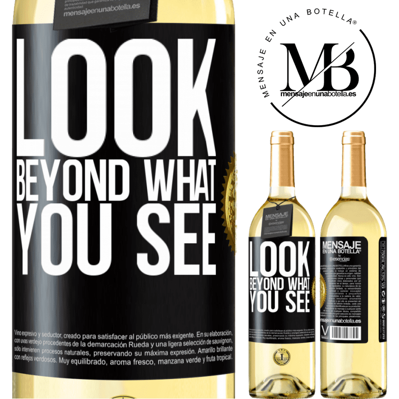 24,95 € Free Shipping   White Wine WHITE Edition Look beyond what you see Black Label. Customizable label Young wine Harvest 2020 Verdejo