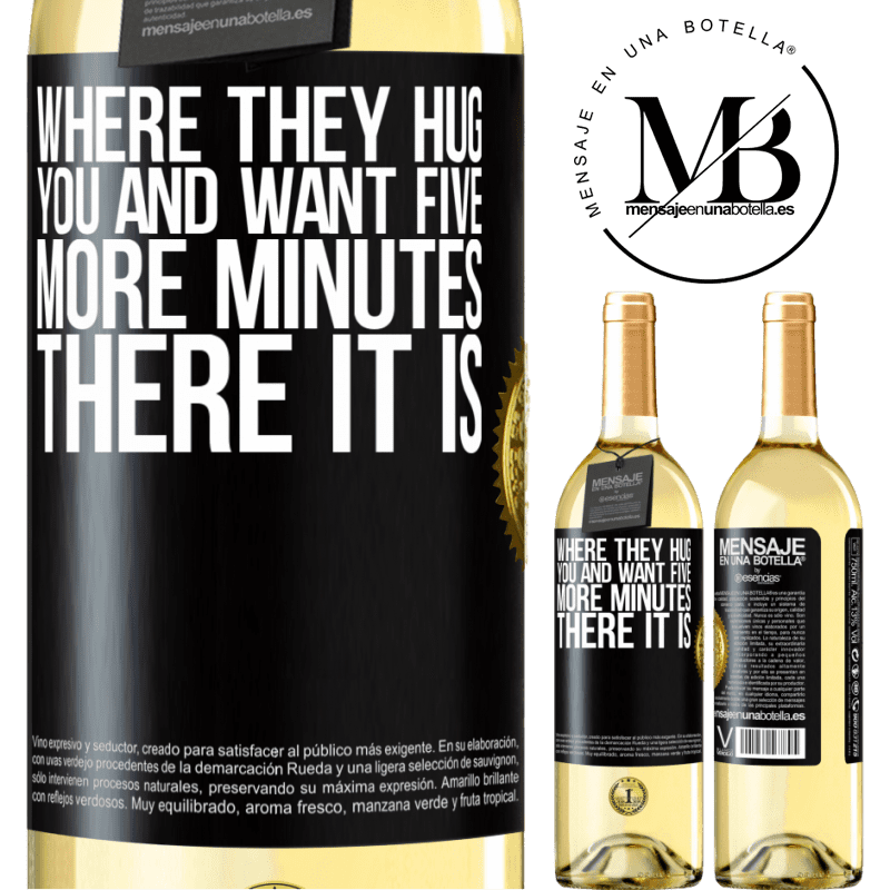 24,95 € Free Shipping | White Wine WHITE Edition Where they hug you and want five more minutes, there it is Black Label. Customizable label Young wine Harvest 2020 Verdejo