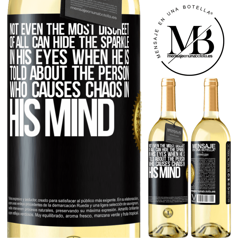 24,95 € Free Shipping | White Wine WHITE Edition Not even the most discreet of all can hide the sparkle in his eyes when he is told about the person who causes chaos in his Black Label. Customizable label Young wine Harvest 2020 Verdejo