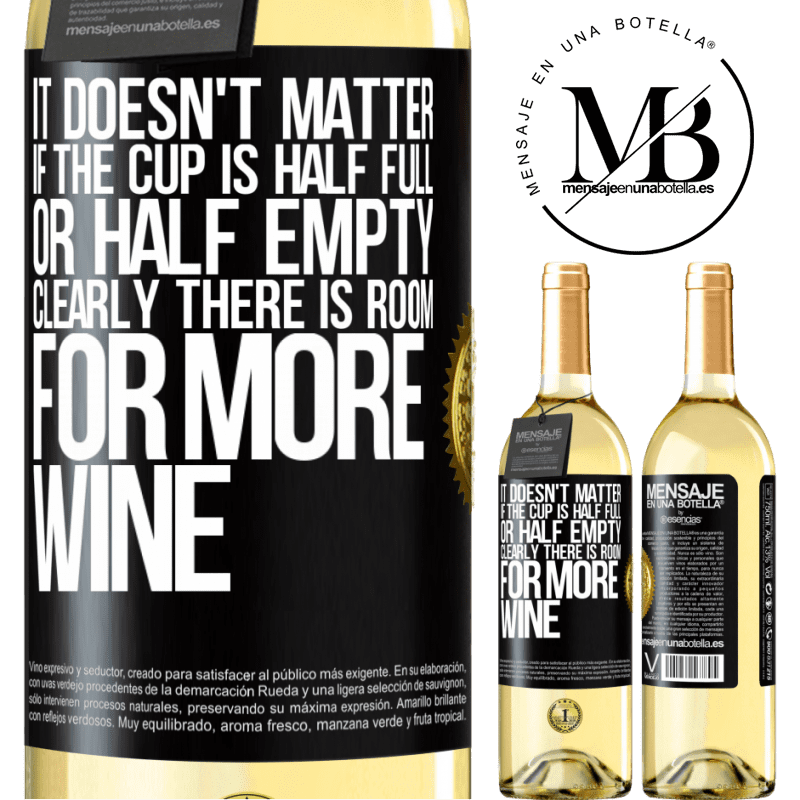 24,95 € Free Shipping   White Wine WHITE Edition It doesn't matter if the cup is half full or half empty. Clearly there is room for more wine Black Label. Customizable label Young wine Harvest 2020 Verdejo
