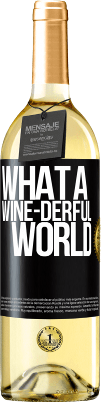 24,95 € Free Shipping | White Wine WHITE Edition What a wine-derful world Black Label. Customizable label Young wine Harvest 2020 Verdejo