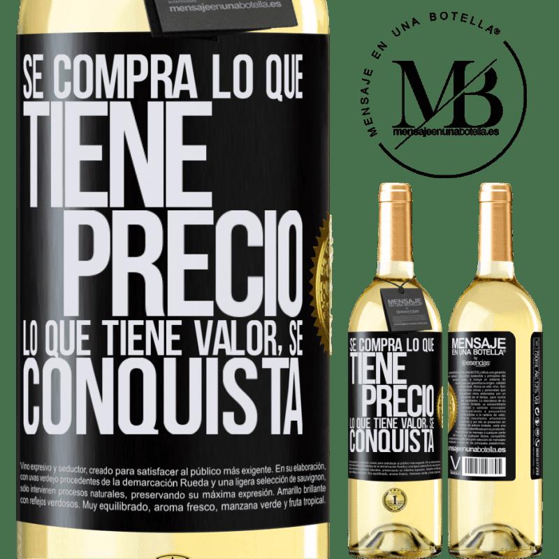 24,95 € Envoi gratuit | Vin blanc Édition WHITE Vous achetez ce qui a un prix. Ce qui a de la valeur est conquis Étiquette Noire. Étiquette personnalisable Vin jeune Récolte 2020 Verdejo