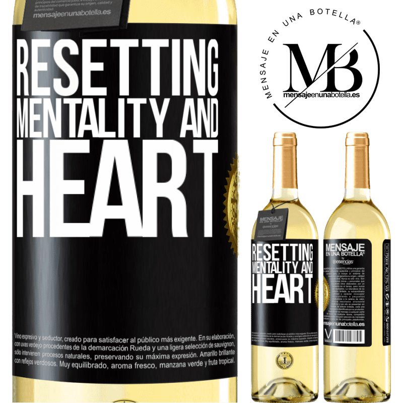 24,95 € Free Shipping | White Wine WHITE Edition Resetting mentality and heart Black Label. Customizable label Young wine Harvest 2020 Verdejo