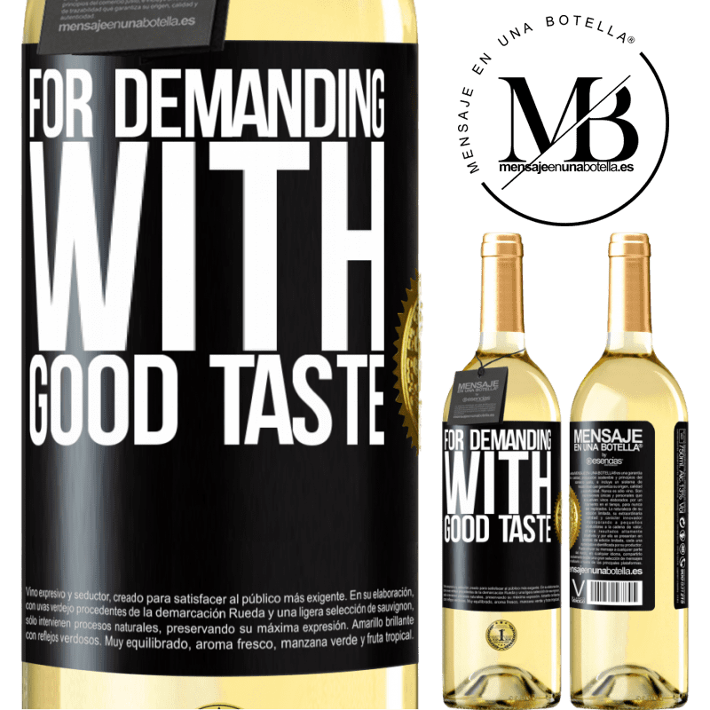24,95 € Free Shipping | White Wine WHITE Edition For demanding with good taste Black Label. Customizable label Young wine Harvest 2020 Verdejo