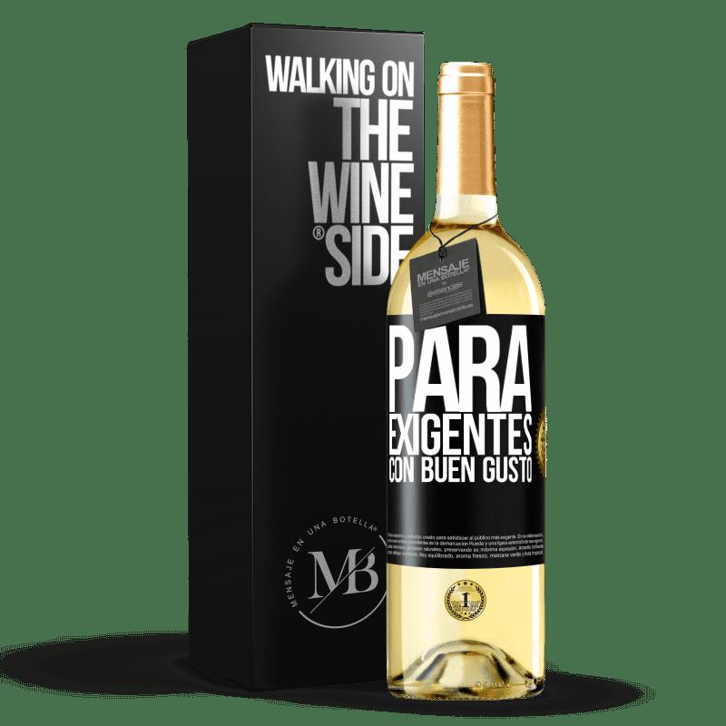 24,95 € Envío gratis | Vino Blanco Edición WHITE Para exigentes con buen gusto Etiqueta Negra. Etiqueta personalizable Vino joven Cosecha 2020 Verdejo