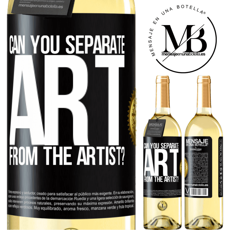 24,95 € Free Shipping   White Wine WHITE Edition can you separate art from the artist? Black Label. Customizable label Young wine Harvest 2020 Verdejo