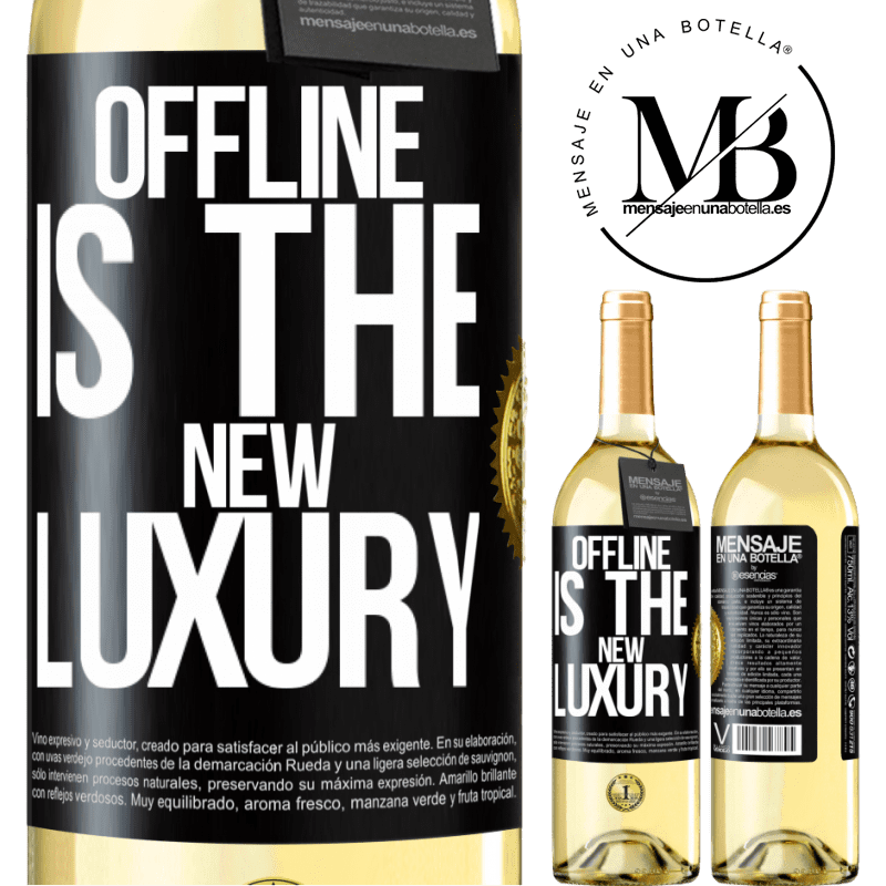 24,95 € Free Shipping | White Wine WHITE Edition Offline is the new luxury Black Label. Customizable label Young wine Harvest 2020 Verdejo