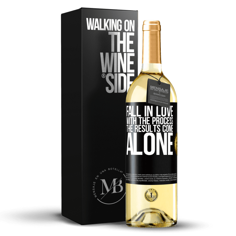 24,95 € Free Shipping | White Wine WHITE Edition Fall in love with the process, the results come alone Black Label. Customizable label Young wine Harvest 2020 Verdejo