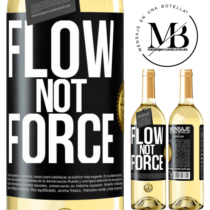 24,95 € Free Shipping   White Wine WHITE Edition Flow, not force Black Label. Customizable label Young wine Harvest 2020 Verdejo