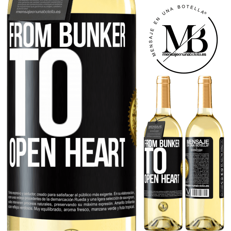 24,95 € Free Shipping   White Wine WHITE Edition From bunker to open heart Black Label. Customizable label Young wine Harvest 2020 Verdejo