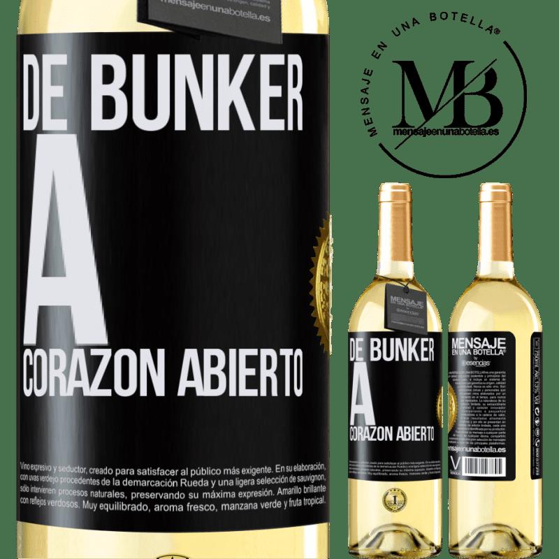24,95 € Envío gratis | Vino Blanco Edición WHITE De búnker a corazon abierto Etiqueta Negra. Etiqueta personalizable Vino joven Cosecha 2020 Verdejo