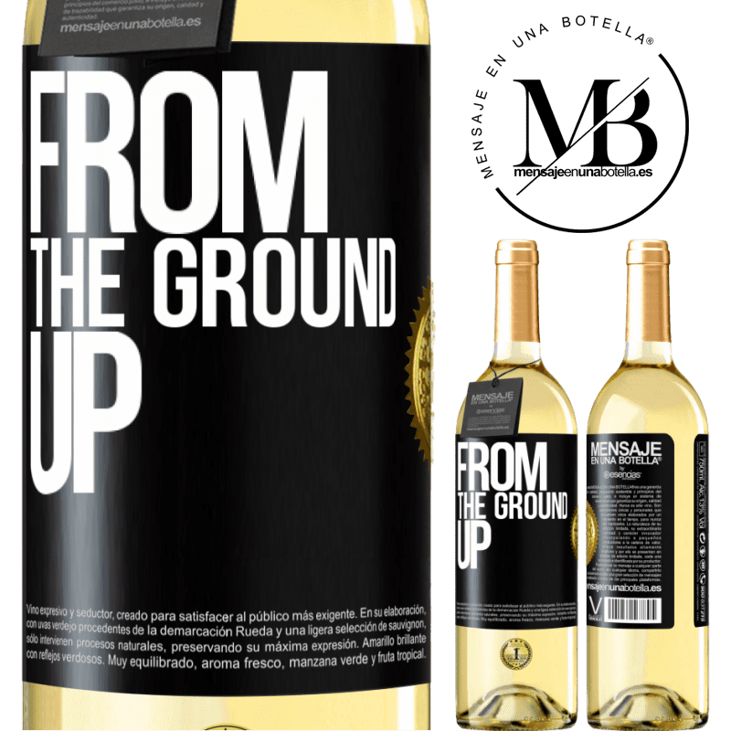 24,95 € Free Shipping | White Wine WHITE Edition From The Ground Up Black Label. Customizable label Young wine Harvest 2020 Verdejo