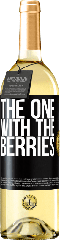 24,95 € Free Shipping | White Wine WHITE Edition The one with the berries Black Label. Customizable label Young wine Harvest 2020 Verdejo