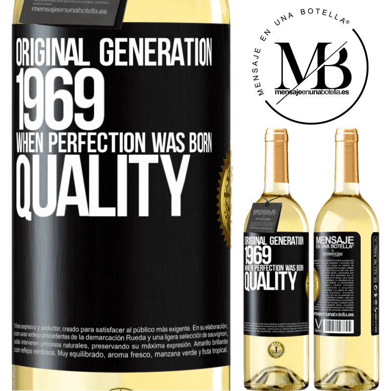 24,95 € Free Shipping   White Wine WHITE Edition Original generation. 1969. When perfection was born. Quality Black Label. Customizable label Young wine Harvest 2020 Verdejo