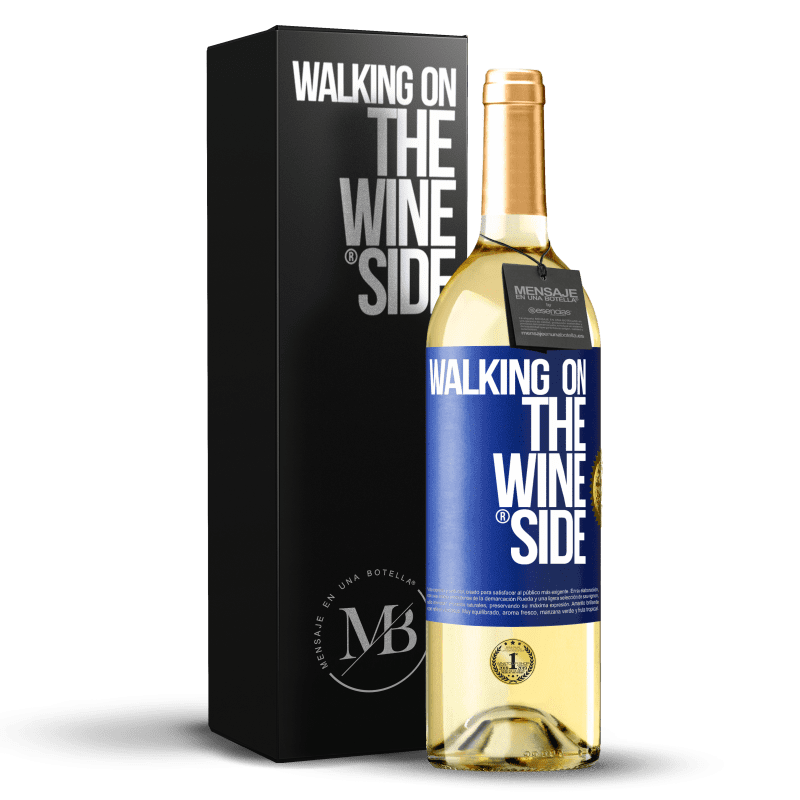 24,95 € Free Shipping | White Wine WHITE Edition Walking on the Wine Side® Blue Label. Customizable label Young wine Harvest 2020 Verdejo