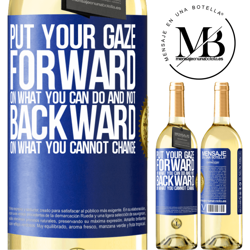 24,95 € Free Shipping | White Wine WHITE Edition Put your gaze forward, on what you can do and not backward, on what you cannot change Blue Label. Customizable label Young wine Harvest 2020 Verdejo