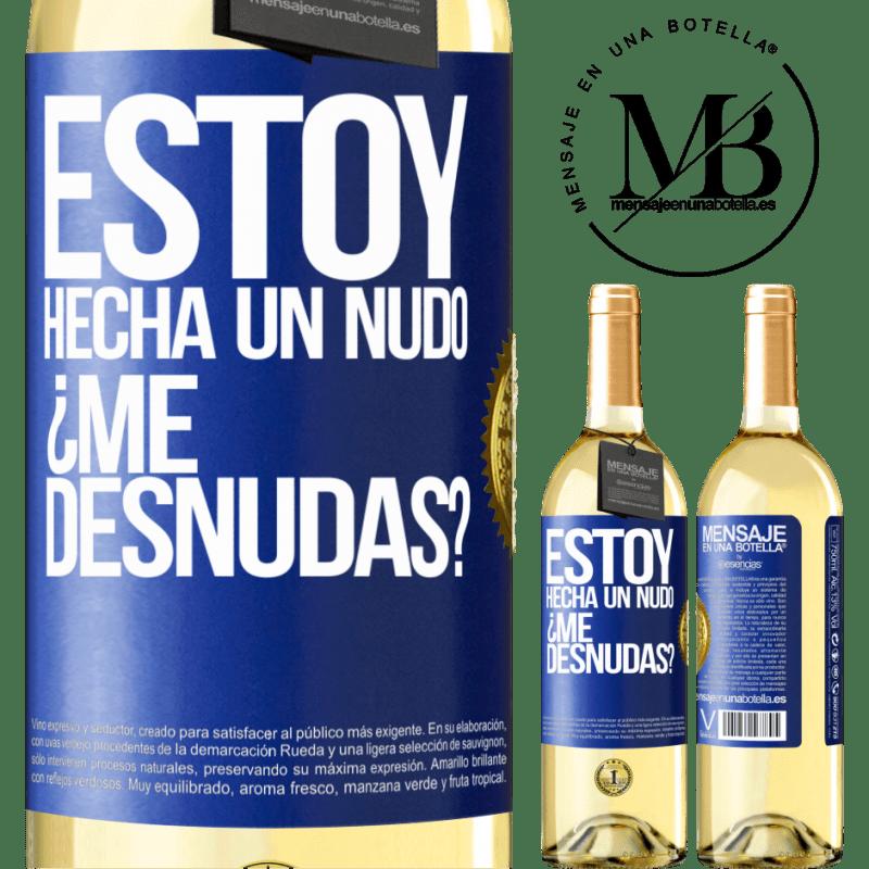 24,95 € Envío gratis   Vino Blanco Edición WHITE Estoy hecha un nudo. ¿Me desnudas? Etiqueta Azul. Etiqueta personalizable Vino joven Cosecha 2020 Verdejo
