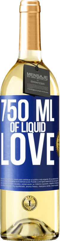 24,95 € | White Wine WHITE Edition 750 ml of liquid love Blue Label. Customizable label Young wine Harvest 2020 Verdejo