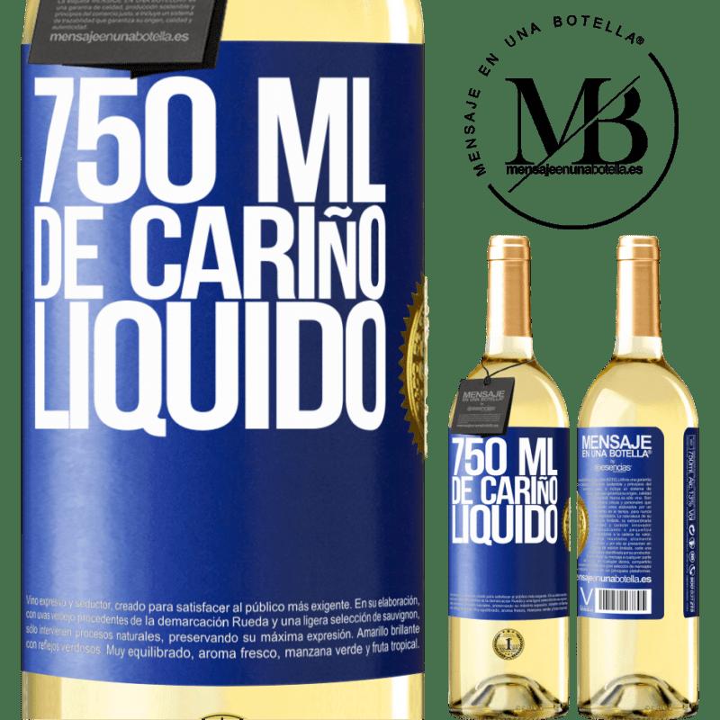 24,95 € Envoi gratuit | Vin blanc Édition WHITE 750 ml d'amour liquide Étiquette Bleue. Étiquette personnalisable Vin jeune Récolte 2020 Verdejo