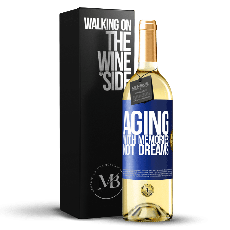 24,95 € Free Shipping | White Wine WHITE Edition Aging with memories, not dreams Blue Label. Customizable label Young wine Harvest 2020 Verdejo