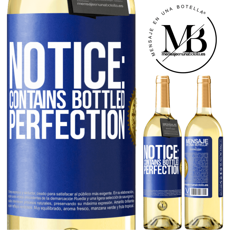 24,95 € Free Shipping   White Wine WHITE Edition Notice: contains bottled perfection Blue Label. Customizable label Young wine Harvest 2020 Verdejo