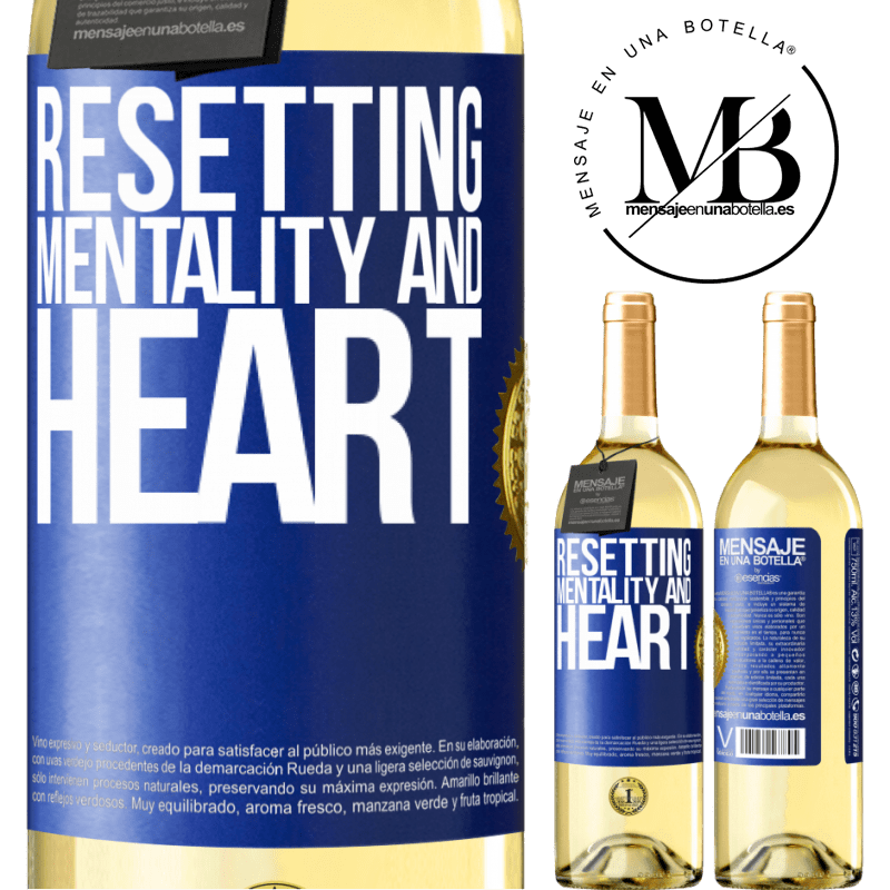 24,95 € Free Shipping | White Wine WHITE Edition Resetting mentality and heart Blue Label. Customizable label Young wine Harvest 2020 Verdejo