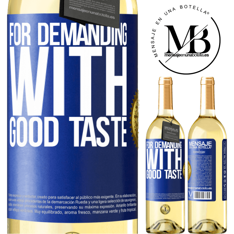 24,95 € Free Shipping | White Wine WHITE Edition For demanding with good taste Blue Label. Customizable label Young wine Harvest 2020 Verdejo