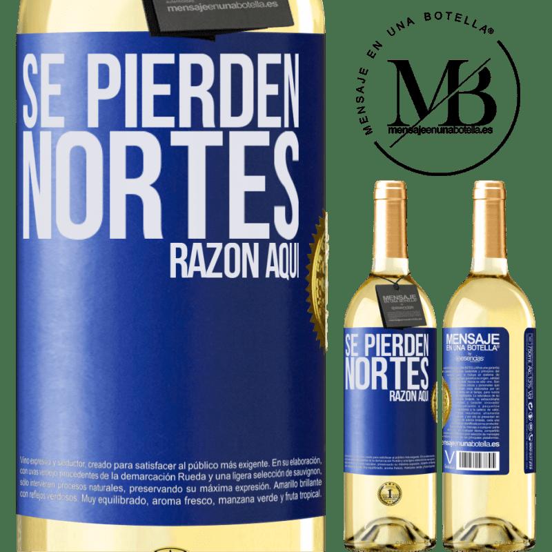 24,95 € Envoi gratuit   Vin blanc Édition WHITE Les Nortes sont perdus. Raison ici Étiquette Bleue. Étiquette personnalisable Vin jeune Récolte 2020 Verdejo