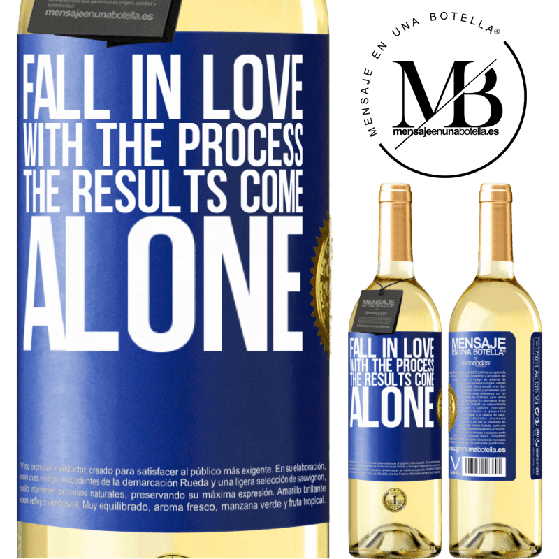 24,95 € Free Shipping | White Wine WHITE Edition Fall in love with the process, the results come alone Blue Label. Customizable label Young wine Harvest 2020 Verdejo