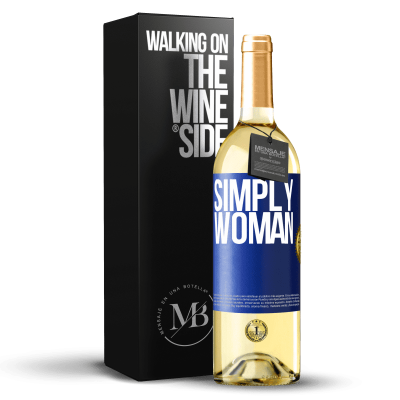 24,95 € Free Shipping | White Wine WHITE Edition Simply woman Blue Label. Customizable label Young wine Harvest 2020 Verdejo