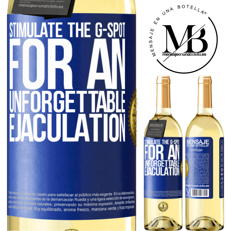 24,95 € Free Shipping | White Wine WHITE Edition Stimulate the G-spot for an unforgettable ejaculation Blue Label. Customizable label Young wine Harvest 2020 Verdejo