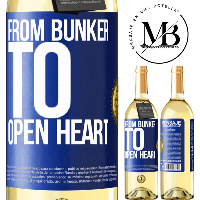 24,95 € Free Shipping   White Wine WHITE Edition From bunker to open heart Blue Label. Customizable label Young wine Harvest 2020 Verdejo