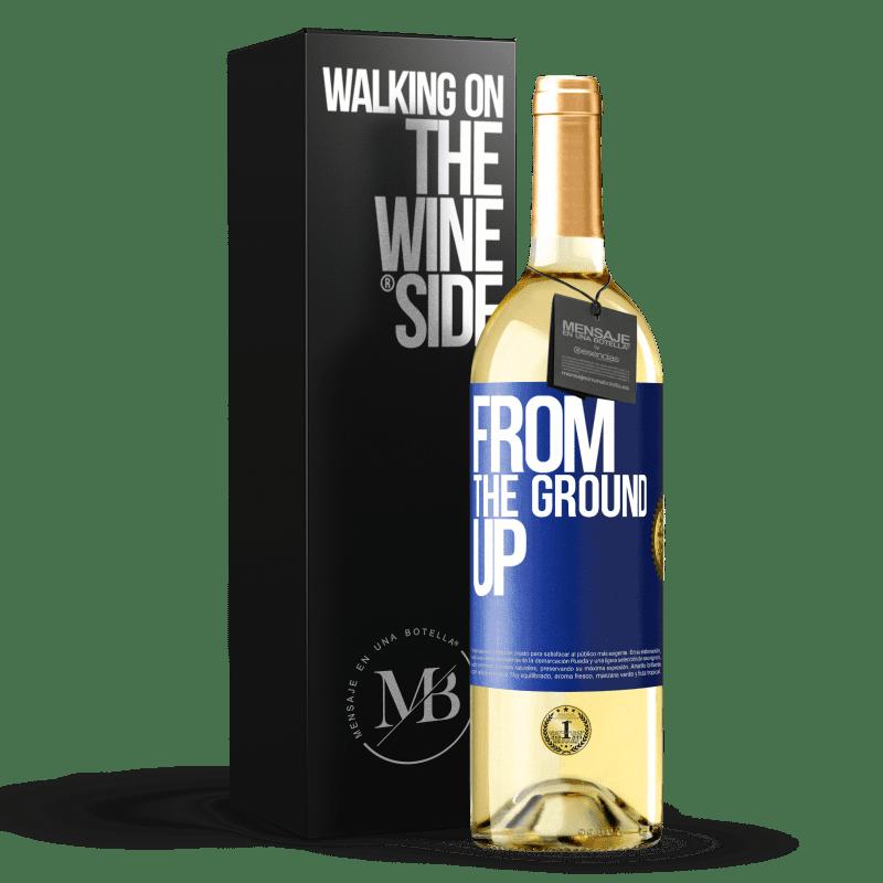 24,95 € Envoi gratuit | Vin blanc Édition WHITE From The Ground Up Étiquette Bleue. Étiquette personnalisable Vin jeune Récolte 2020 Verdejo