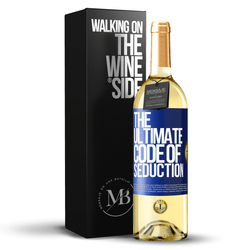24,95 € Free Shipping | White Wine WHITE Edition The ultimate code of seduction Blue Label. Customizable label Young wine Harvest 2020 Verdejo