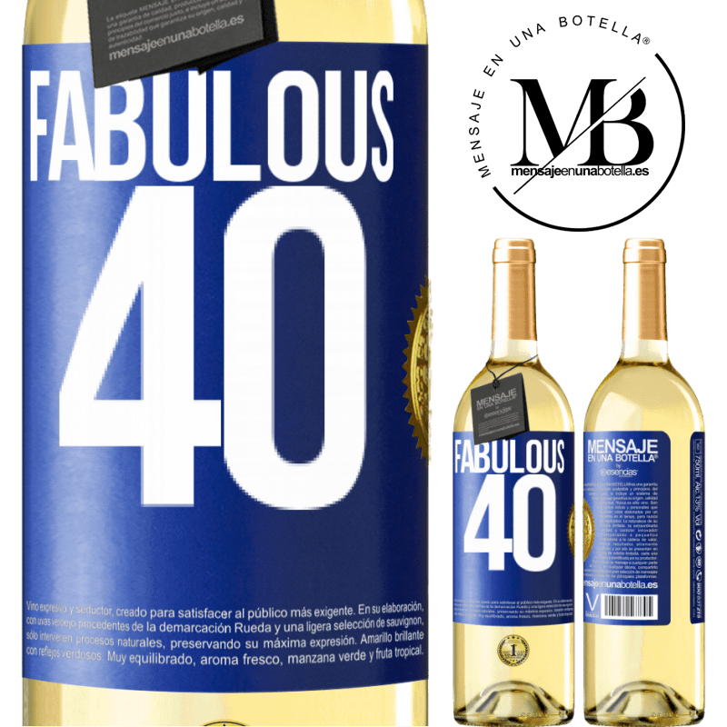 24,95 € Free Shipping   White Wine WHITE Edition Fabulous 40 Blue Label. Customizable label Young wine Harvest 2020 Verdejo
