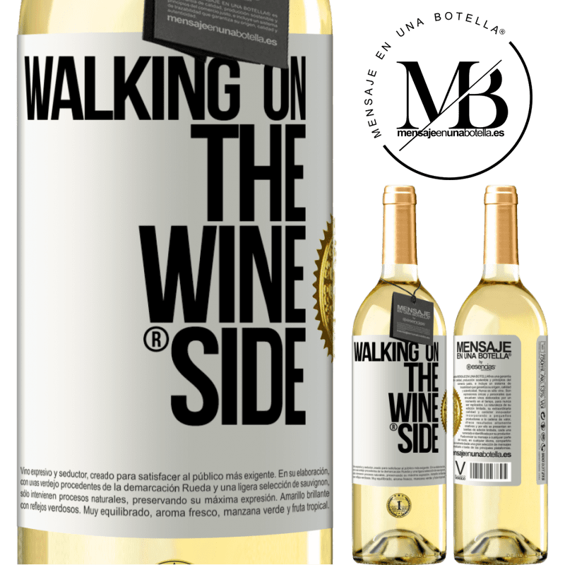 24,95 € Free Shipping | White Wine WHITE Edition Walking on the Wine Side® White Label. Customizable label Young wine Harvest 2020 Verdejo