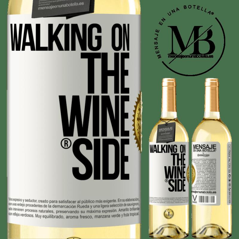 24,95 € Envoi gratuit | Vin blanc Édition WHITE Walking on the Wine Side® Étiquette Blanche. Étiquette personnalisable Vin jeune Récolte 2020 Verdejo