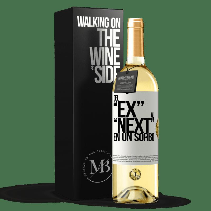 24,95 € Free Shipping | White Wine WHITE Edition Del EX al NEXT en un sorbo White Label. Customizable label Young wine Harvest 2020 Verdejo