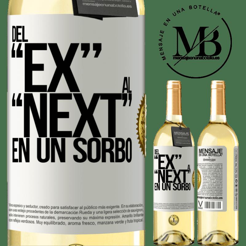 24,95 € Envío gratis | Vino Blanco Edición WHITE Del EX al NEXT en un sorbo Etiqueta Blanca. Etiqueta personalizable Vino joven Cosecha 2020 Verdejo