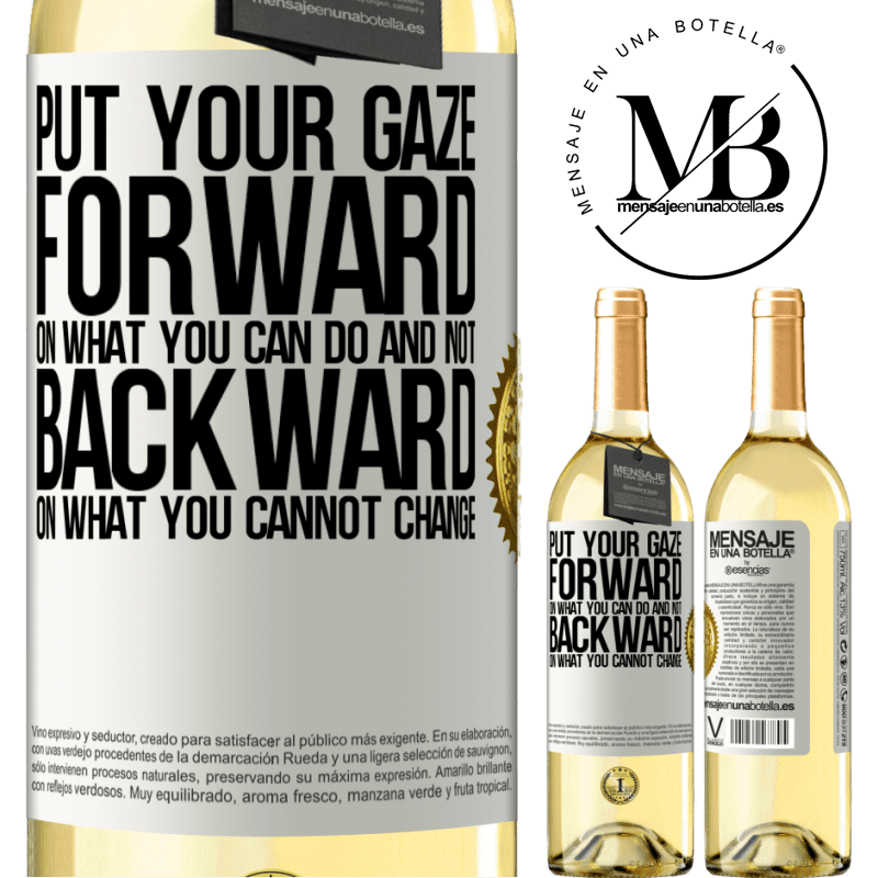 24,95 € Free Shipping   White Wine WHITE Edition Put your gaze forward, on what you can do and not backward, on what you cannot change White Label. Customizable label Young wine Harvest 2020 Verdejo