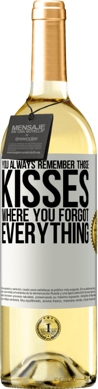 24,95 € Free Shipping | White Wine WHITE Edition You always remember those kisses where you forgot everything White Label. Customizable label Young wine Harvest 2020 Verdejo