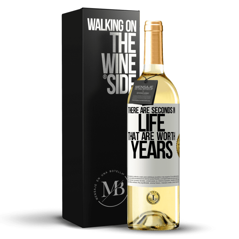24,95 € Free Shipping   White Wine WHITE Edition There are seconds in life that are worth years White Label. Customizable label Young wine Harvest 2020 Verdejo