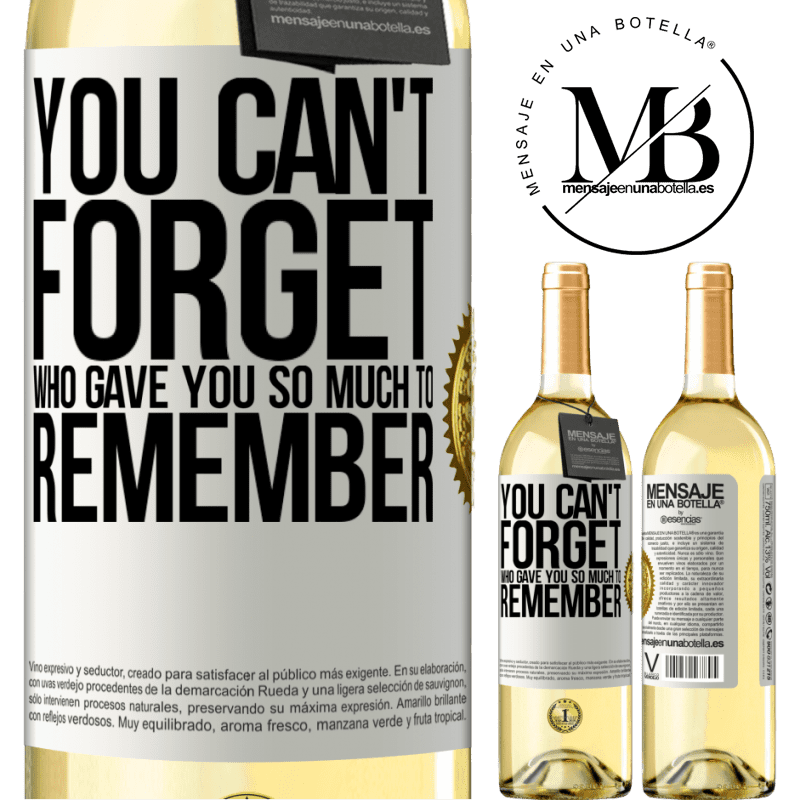 24,95 € Free Shipping   White Wine WHITE Edition You can't forget who gave you so much to remember White Label. Customizable label Young wine Harvest 2020 Verdejo
