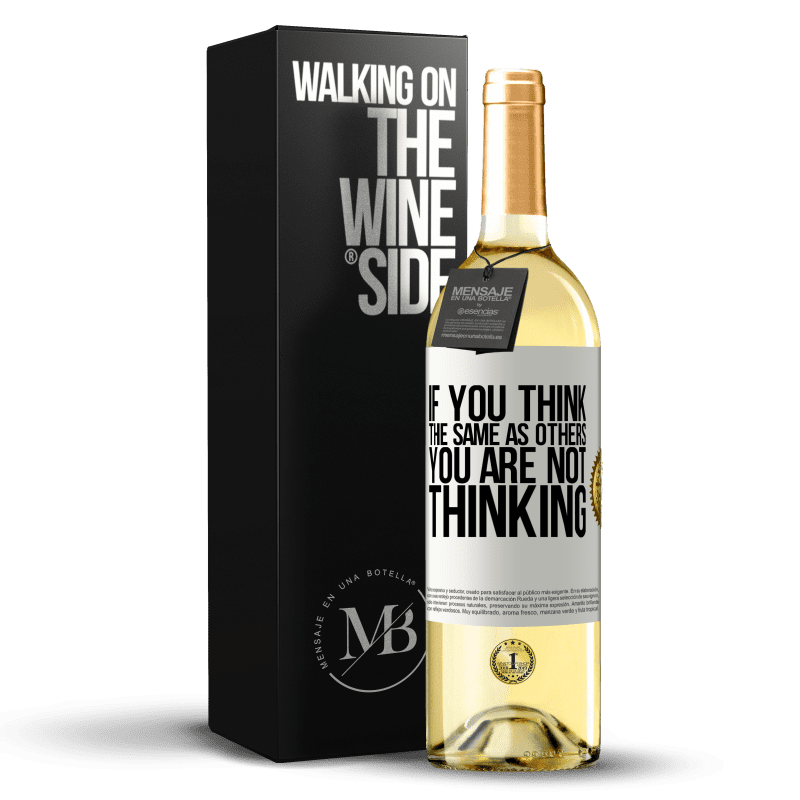24,95 € Free Shipping | White Wine WHITE Edition If you think the same as others, you are not thinking White Label. Customizable label Young wine Harvest 2020 Verdejo