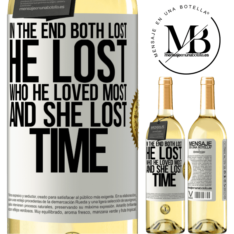 24,95 € Free Shipping | White Wine WHITE Edition In the end, both lost. He lost who he loved most, and she lost time White Label. Customizable label Young wine Harvest 2020 Verdejo