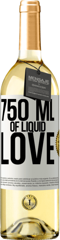 24,95 € | White Wine WHITE Edition 750 ml of liquid love White Label. Customizable label Young wine Harvest 2020 Verdejo