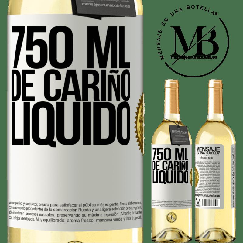 24,95 € Envoi gratuit | Vin blanc Édition WHITE 750 ml d'amour liquide Étiquette Blanche. Étiquette personnalisable Vin jeune Récolte 2020 Verdejo