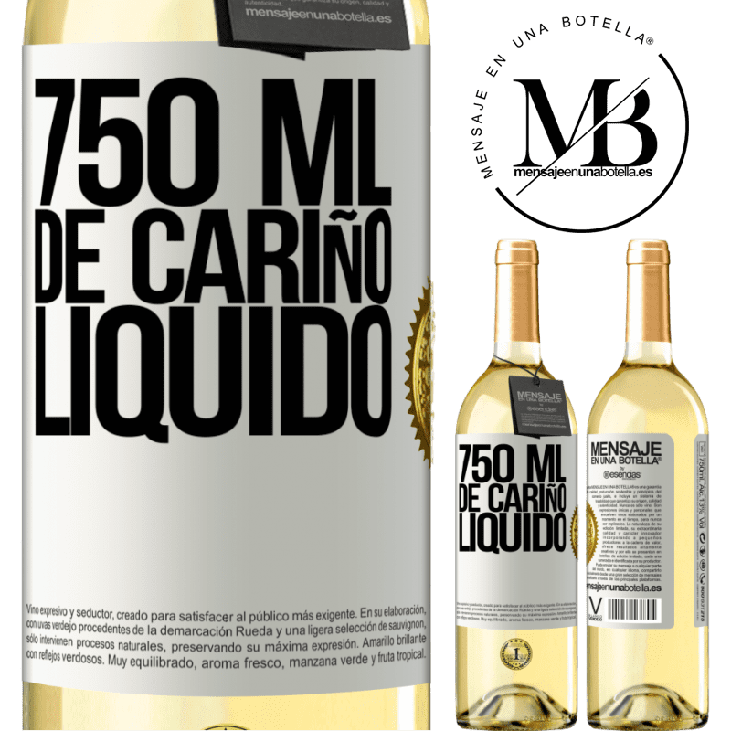 24,95 € Envío gratis | Vino Blanco Edición WHITE 750 ml. de cariño líquido Etiqueta Blanca. Etiqueta personalizable Vino joven Cosecha 2020 Verdejo