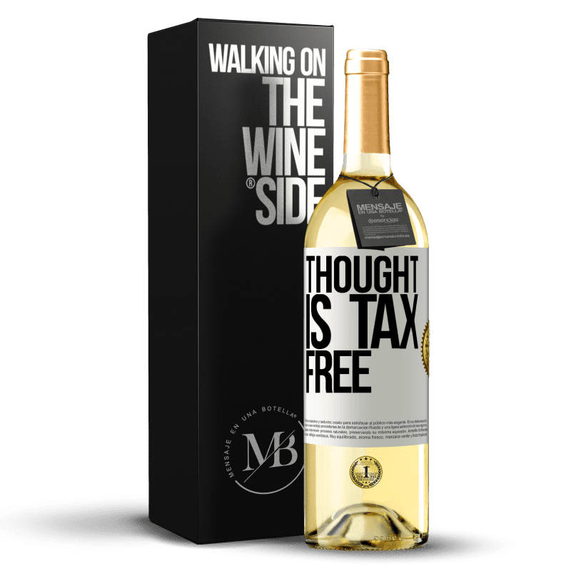 24,95 € Free Shipping   White Wine WHITE Edition Thought is tax free White Label. Customizable label Young wine Harvest 2020 Verdejo